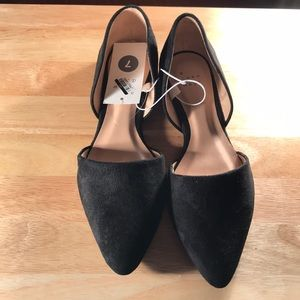 Rebecca Microsuede Pointed  Ballet Flats A New Day